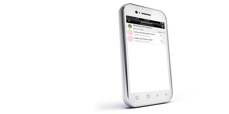 Cell Phone Displaying Rainout Line